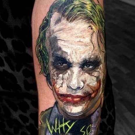 realistische tatoeage Joker